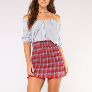 Fashion Nova Little Darling Smocked Mini Skirt